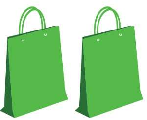 2 green bags
