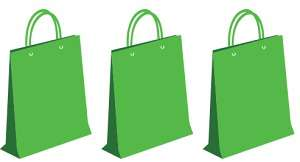 3 green bags
