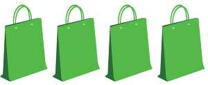 4 green bags