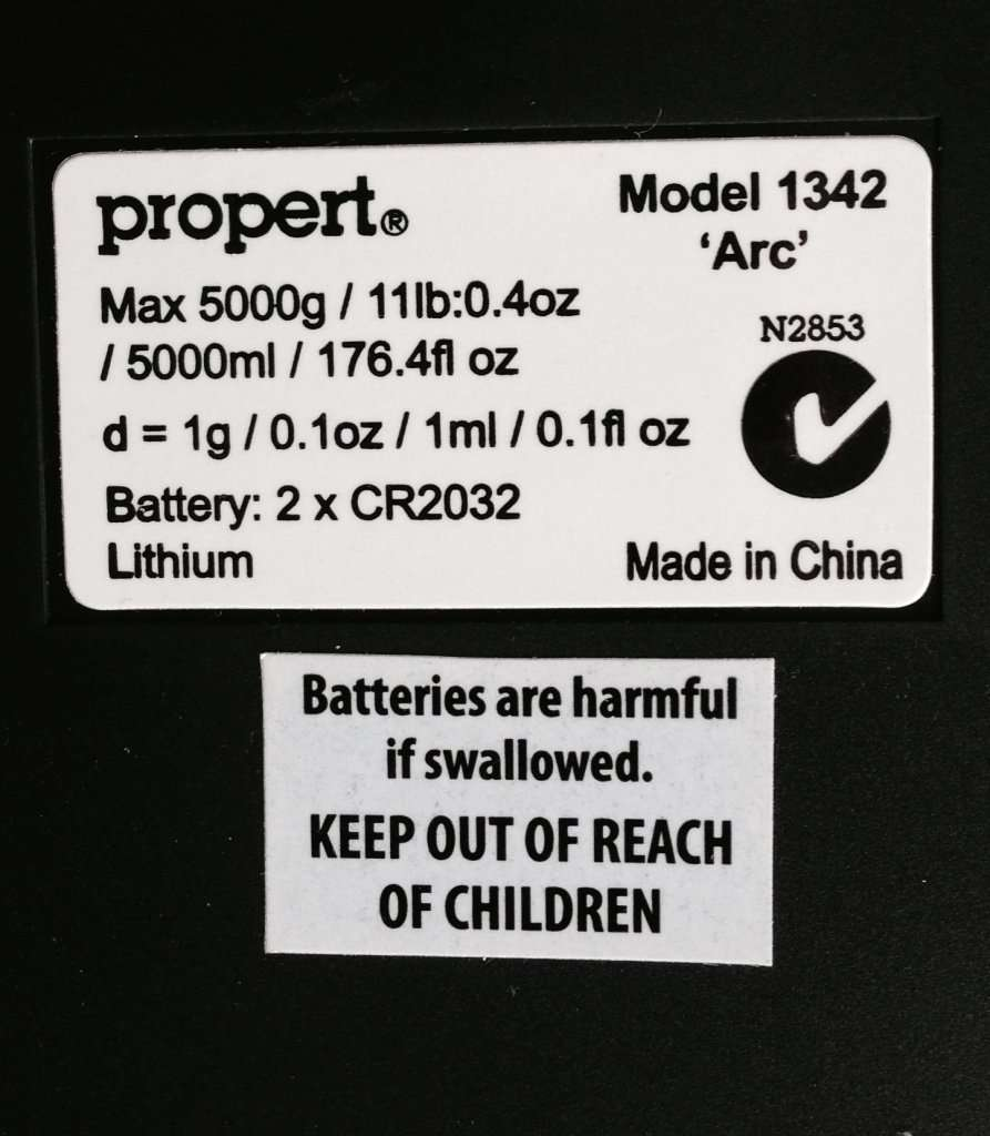 Button battery warning label